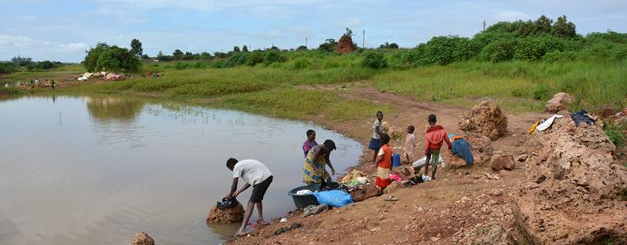 Wash day in the Musonoi River, DRC